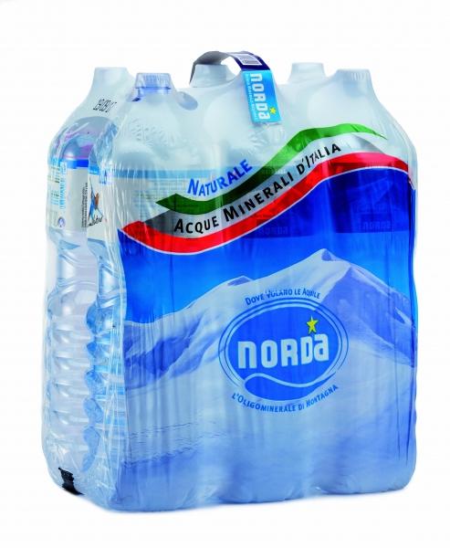 6 bottiglie Acqua Norda Daggio 15 L Pet