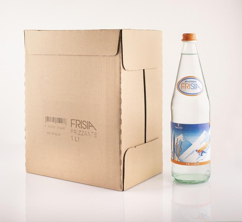 6 bottiglie acqua frisia litro vuoto a perdere