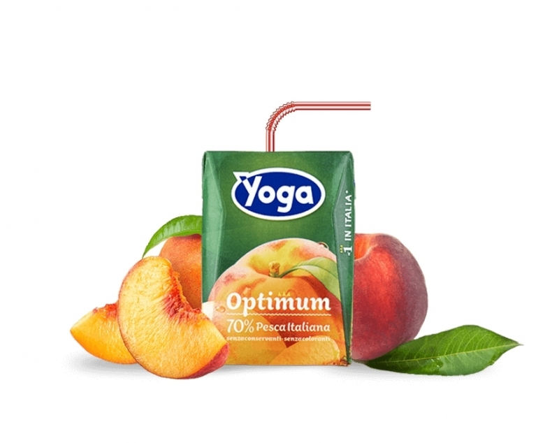 6 brik Succhi Yoga Pesca Optimum 200 ml