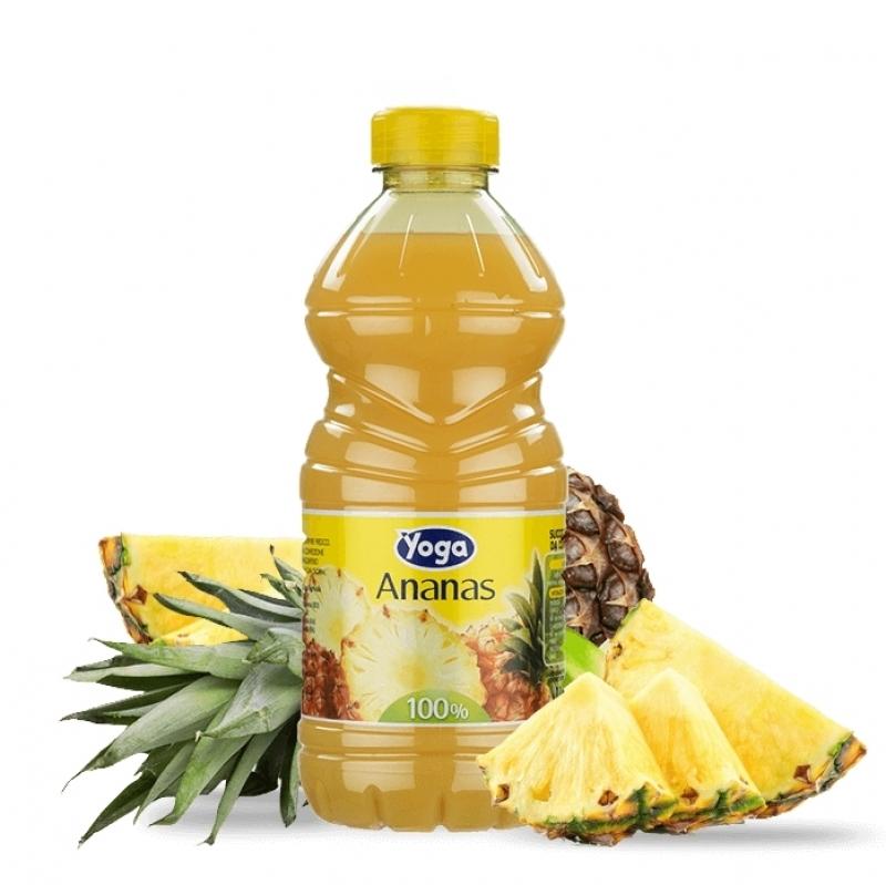 2 bottiglie SUCCHI ANANAS YOGA OPTIMUM 100 pet li