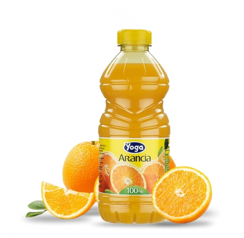 2 bottiglie SUCCHI ARANCIA YOGA OPTIMUM 100 pet l
