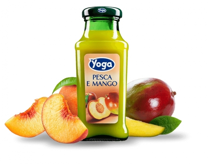 4 bottiglie Succhi Yoga Classic Pesca e Mango
