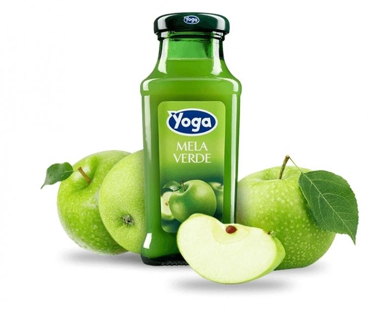 4 bottiglie Succhi Yoga Classic Mela Verde
