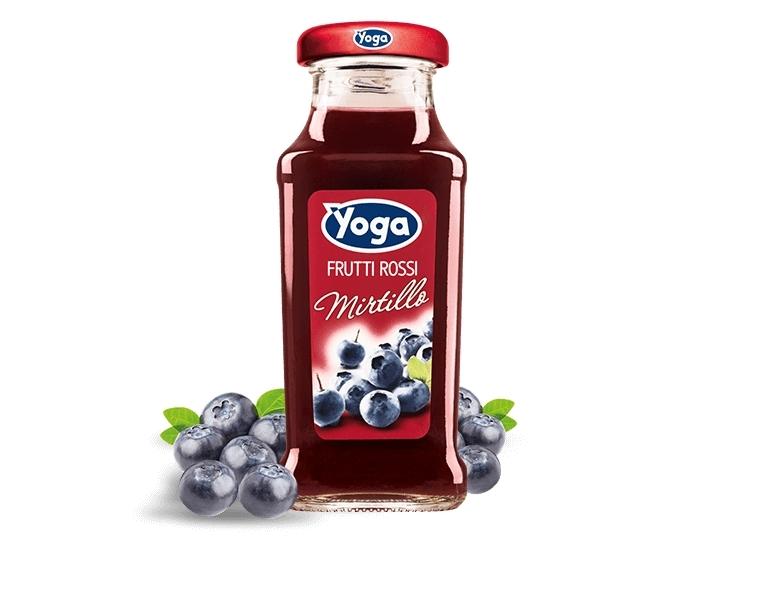 4 bottiglie Succhi Yoga Classic Frutti Rossi Mirti