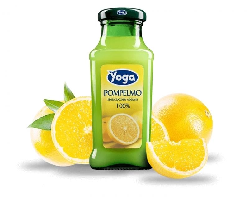 4 bottiglie Succhi Yoga Classic Pompelmo 100