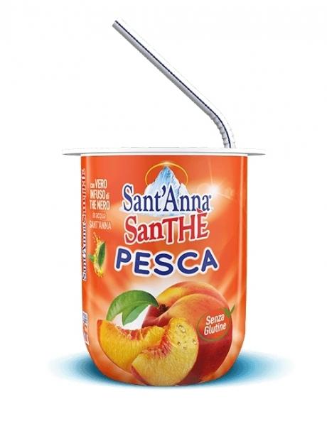 6 bicchieri 200 ml SanThè SantAnna Pesca
