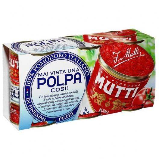 Polpa Mutti gr 400 x 3