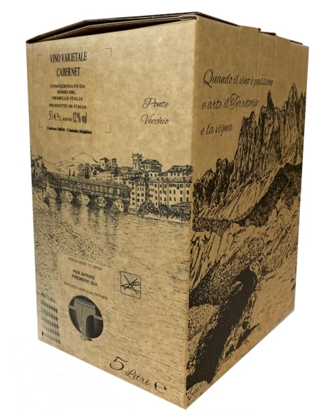 BAG IN BOX CABERNET NARDIN 5 Litri