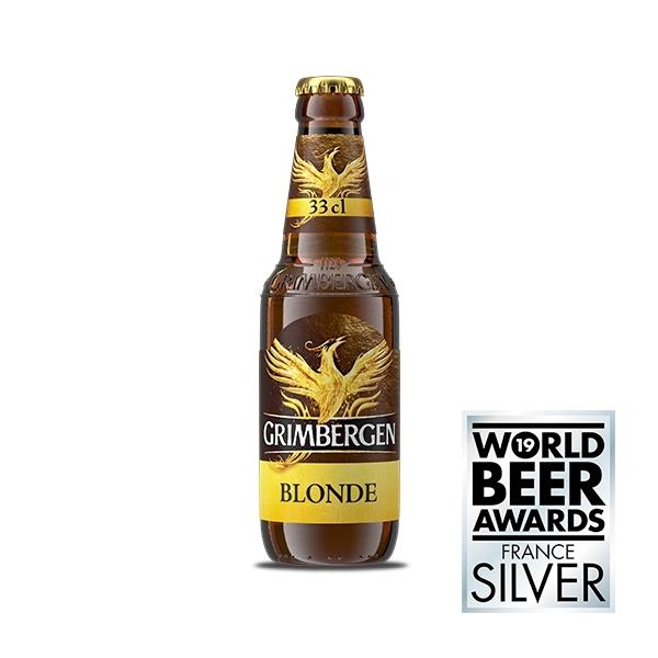 4 bottiglie da 33 cl Grimbergen Blonde