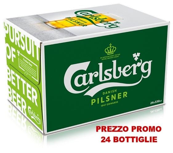 24 bottiglie da 33 cl Carlsberg Pilsner Beer PROM