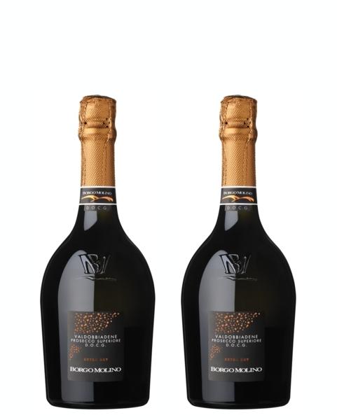 2 bottiglie 375 ml Valdobbiadene Prosecco Superio