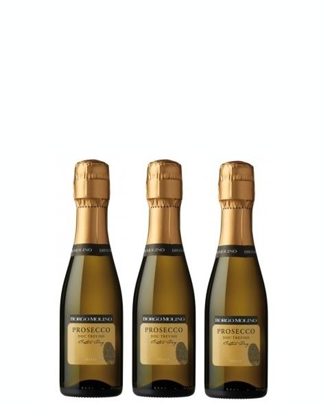 3 bottiglie 200 ml Prosecco DOC Treviso Extra