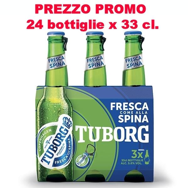 24 bottiglie da 33 cl Tuborg Beer 33 cl