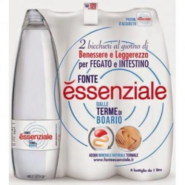6 bottiglie Acqua Fonte Essenziale Litro Pet