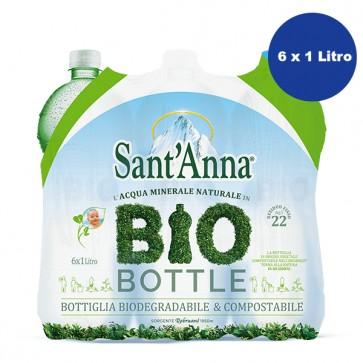 6 bottiglie Acqua SantAnna Litro Bio Bottle