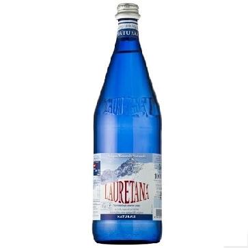 6 bottiglie Acqua Lauretana Litro Vetro