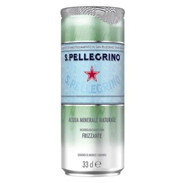 24 lattine 33 cl Acqua Sanpellegrino