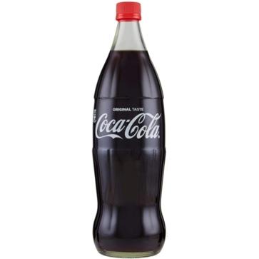 6 bottiglie 1 litro vetro Coca Cola