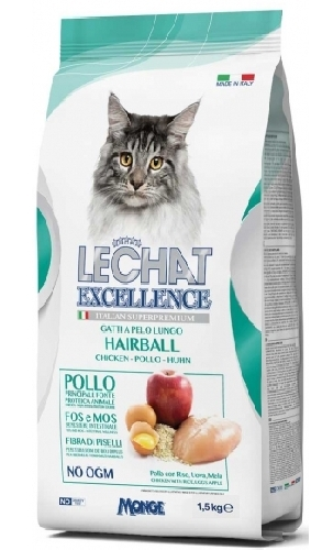 Lechat Excellence 15 Kg Gatti hairball pollo