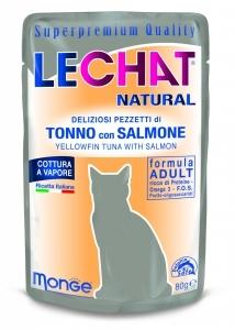 Lechat Natural 80 gr tonno con salmone