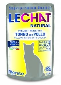 Lechat Natural 80 gr tonno con pollo