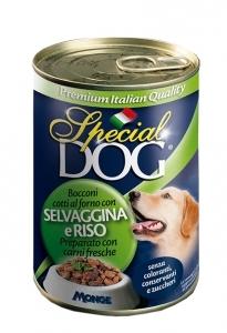 Special dog bocconi selvaggina e riso