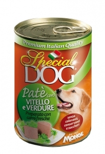 Special dog patè vitello e verdure