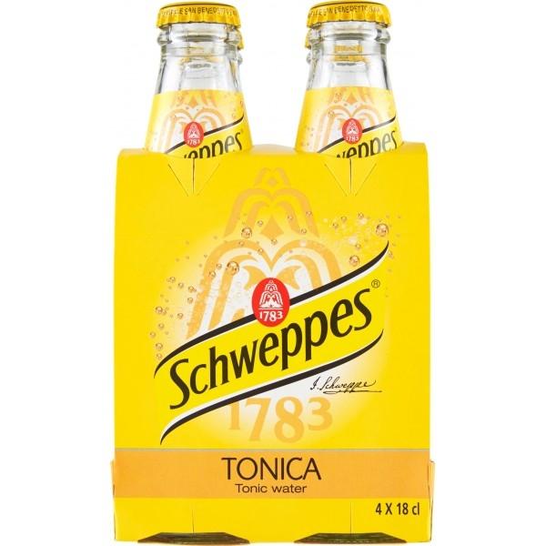 4 bottiglie Schweppes Tonica