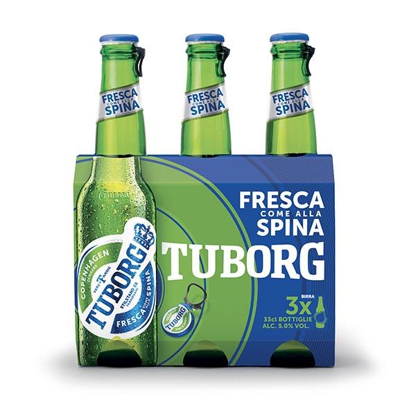 3 bottiglie da 33 cl di Tuborg Beer 33 cl