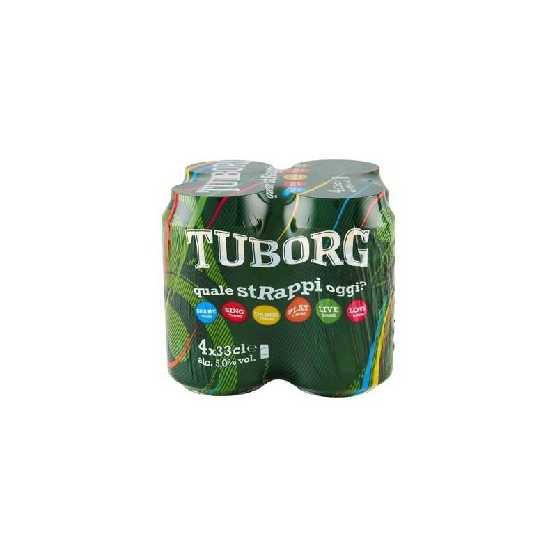 4 lattine da 33 cl di Tuborg Beer