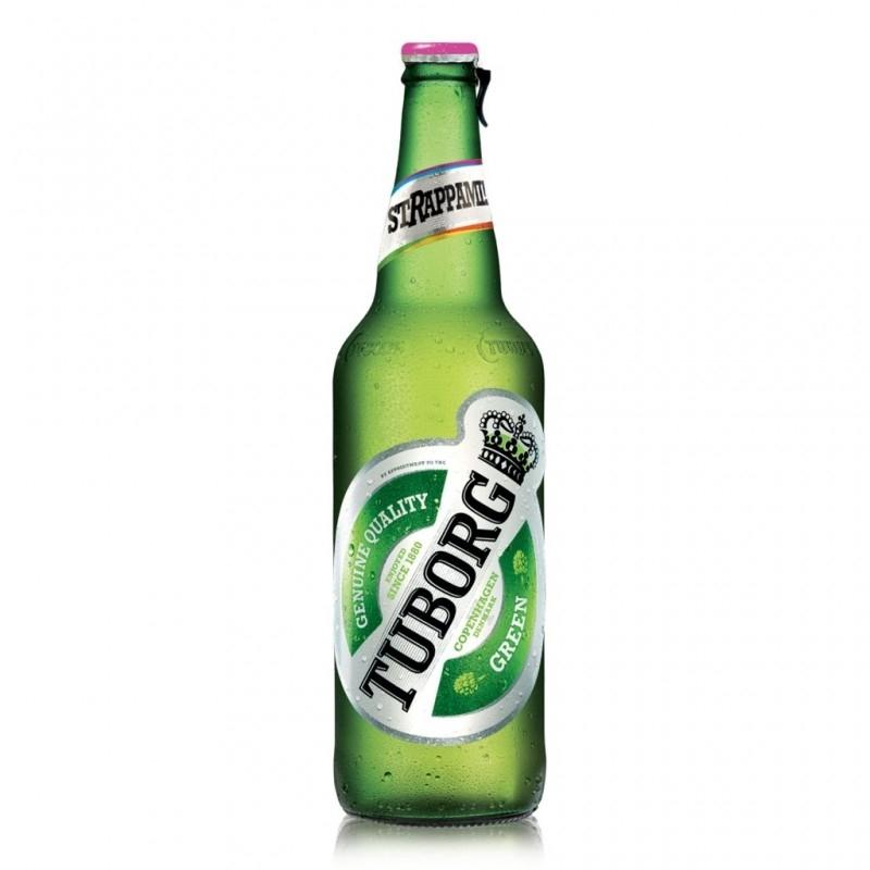 6 bottiglie da 66 cl di Tuborg Beer 66 cl