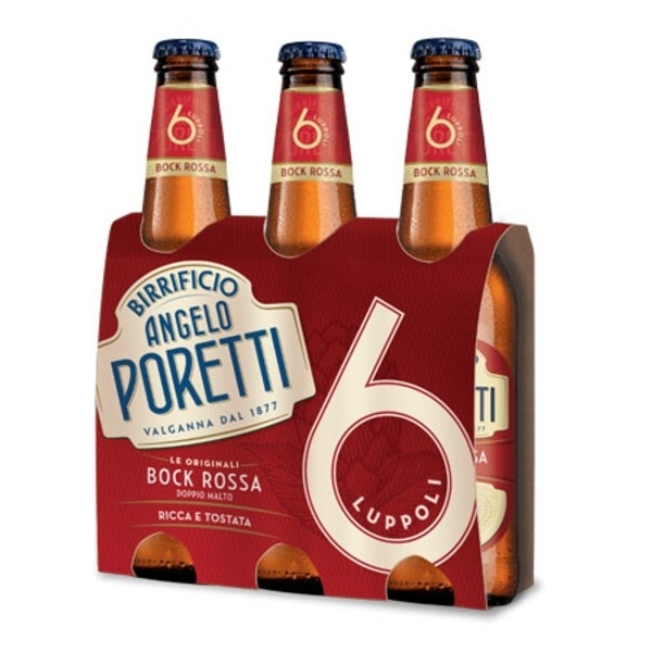 3 bottiglie 33 cl 6 luppoli Bock rossa Angelo Por