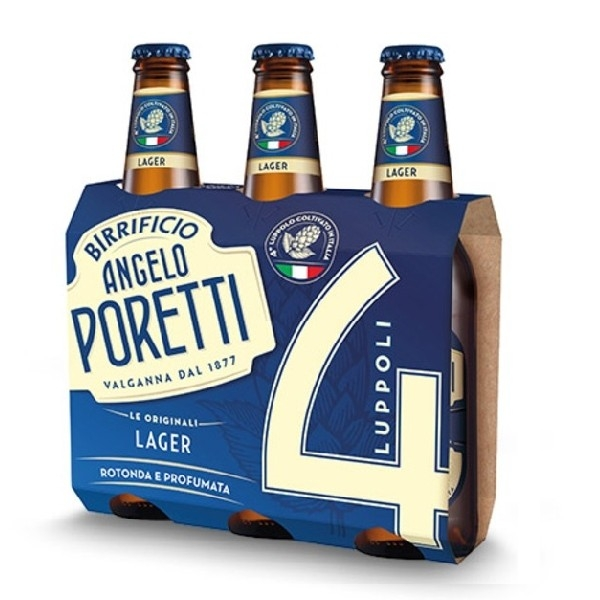 3 bottiglie 33 cl 4 luppoli LAGER Angelo Poretti