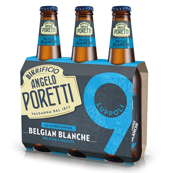 3 bottiglie 33 cl 9 luppoli Belgian blanche Angel