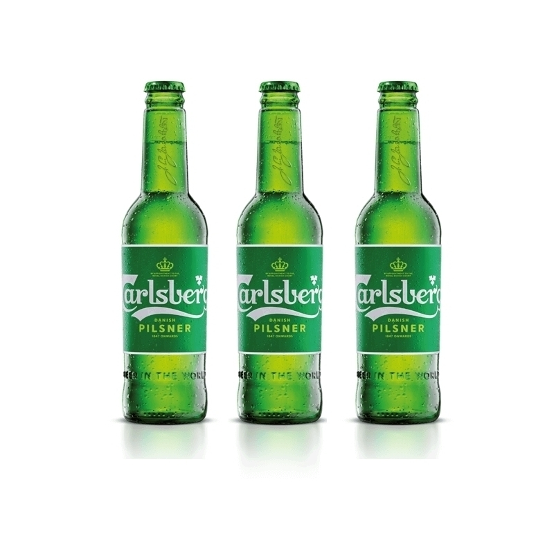 3 bottiglie da 33 cl di Carlsberg Beer