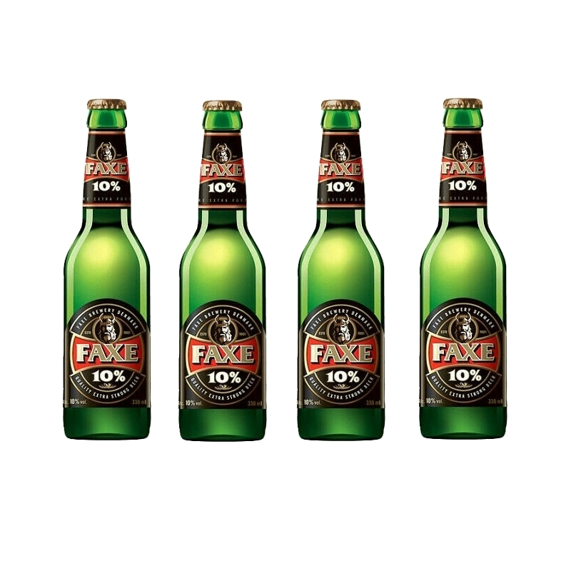 4 bottiglie da 33 cl di Faxe 10