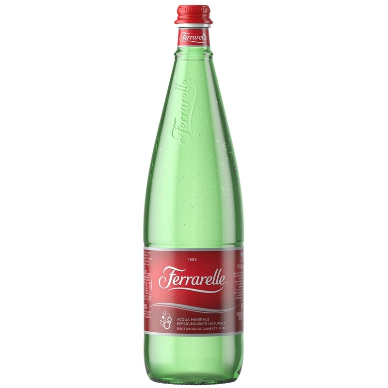 6 bottiglie Acqua Ferrarelle Litro Vetro